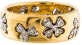 Cathy Waterman Mixed Metal Diamond Band