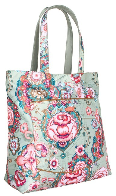 Oilily Fantasy Floral Reversible Shopper (Pistachio) - Bags and Luggage