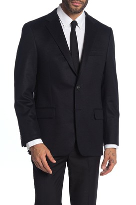 Hickey Freeman Milburn II Black Notch Collar Dual Button Blazer