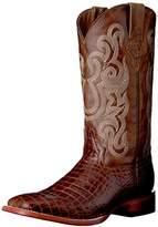 Ferrini Men's Print Belly Caiman Square Toe Western Boot, 10 D US