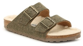 Birkenstock Arizona Happy Lamb Slide Sandal - Women's