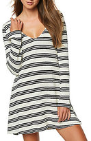 O'Neill Margot Striped V-Neck Swing Knit Dress