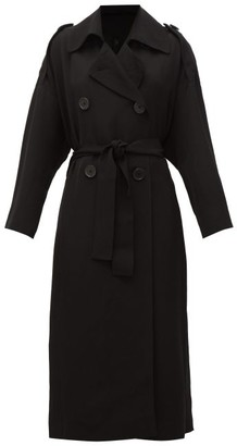 Petar Petrov Mina Double-breasted Belted Trench Coat - Black