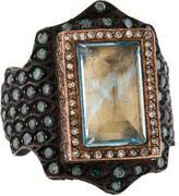 Sevan Biçakci Diamond & Topaz Intaglio Bird Cocktail Ring