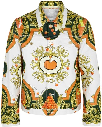 Casablanca Les Oranges printed denim jacket