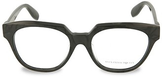 Alexander McQueen 52MM Square Optical Glasses