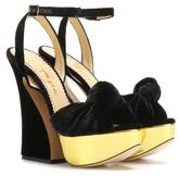 Charlotte Olympia Vreeland velvet platform sandals