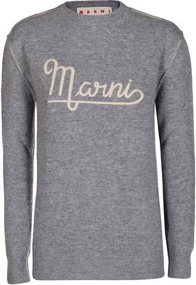 Marni Logo Embroidered Crewneck Sweater