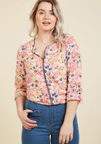 Podcast Co-Host Top in Floral Burst in XS