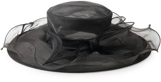Scala Women's Organza Big Brim Bow Trim Hat