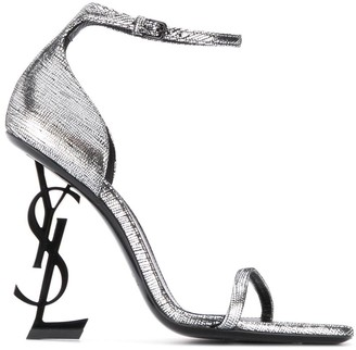 Saint Laurent Opyum monogram heel sandals