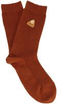 Folk Men's Rib Socks Rust