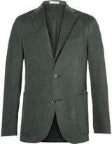 Boglioli - Green Slim-fit Brushed Stretch-cotton Twill Suit Jacket