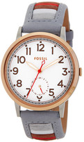 Fossil Women&s Stainless Steel Leather Strap Watch