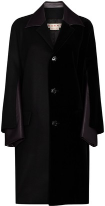 Marni Faux-Leather Panelled Coat