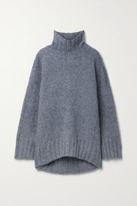 Petar Petrov Kip Oversized Ribbed Cashmere And Silk-blend Sweater - Stone