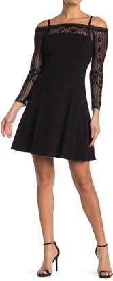 Kensie Cold Shoulder Fit and Flare Dress