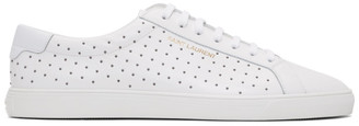 Saint Laurent White Stud Andy Sneakers