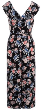 INC International Concepts Inc Floral-Print Jumpsuit, Created for Macy's