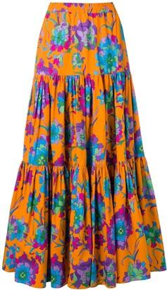 La DoubleJ long printed skirt