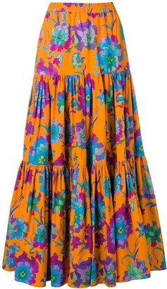La DoubleJ Long Printed Skirt