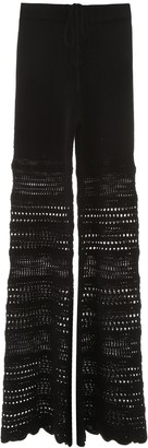 Amiri CROCHET PANTS M Black Silk