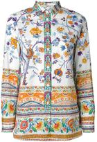 Etro floral print shirt - women - Cotton/Spandex/Elastane - 44