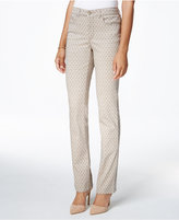 Charter Club Petite Lexington Printed Straight-Leg Pants, Only at Macy's