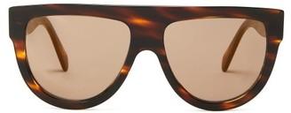 Celine Shadow Flat-top D-frame Acetate Sunglasses - Tortoiseshell