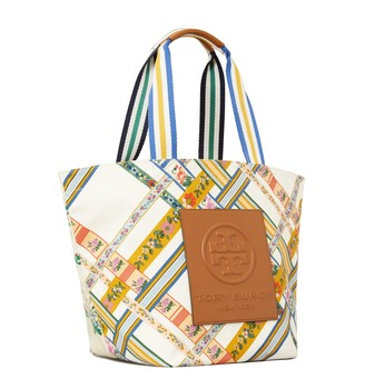 Tory Burch Gracie Reversible Printed Canvas Tote Bag
