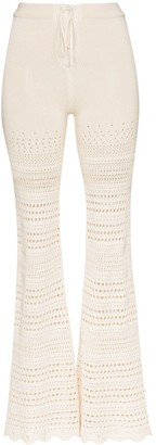 Amiri Crochet-Knit Flared Trousers