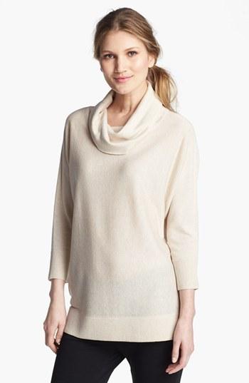 Nordstrom Cowl Neck Silk & Cashmere Sweater