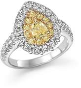 Bloomingdale's Yellow and White Diamond Pear Shape Ring in 18K White and Yellow Gold - 100% Exclusive