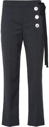 Prada Asymmetric Side Tie Trousers