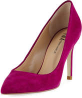 Neiman Marcus Jane Suede Pointed Pump