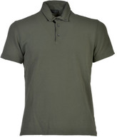 Zanone Button-down Collar Polo Shirt