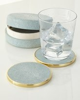 AERIN Shagreen Coaster Set