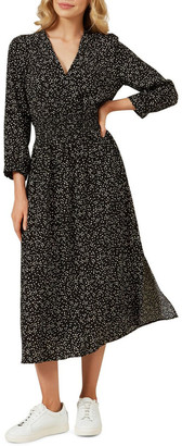 French Connection Shirred Waist Midi Dress