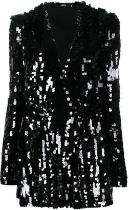 Amen Sequin-Embellished Wrap Dress