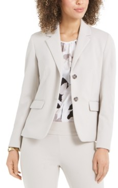 Nine West Two-Button Crepe Blazer