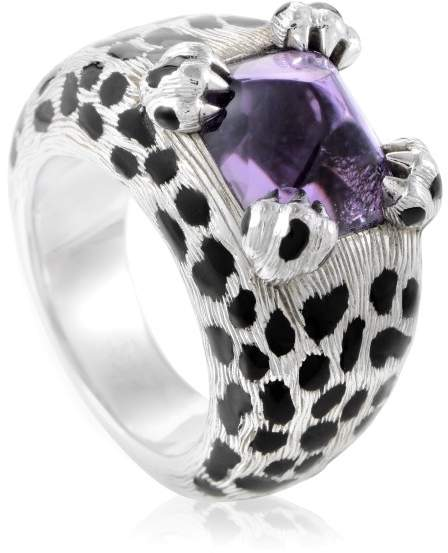 Christian Dior Mitza 18K White Gold Amethyst Ring