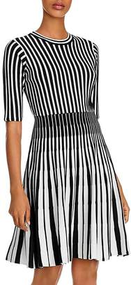 Nanette Lepore nanette Striped Fit and Flare Knit Dress