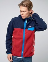 Patagonia Lightweight Snap T Hooded Fleece In Red