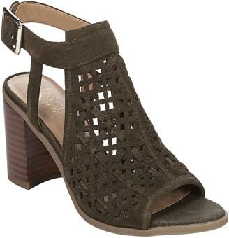 Franco Sarto Leather Block Heel Sandals - Harlet