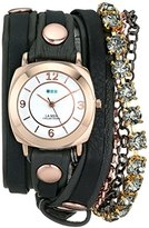 La Mer Women's LMMULTI7001 Phantom Collection Sapphire Crystal Wrap Watch