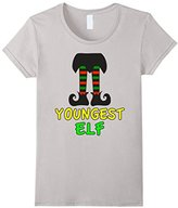 Women's Family Christmas Shirts Youngest Elf Family Matching Set Medium