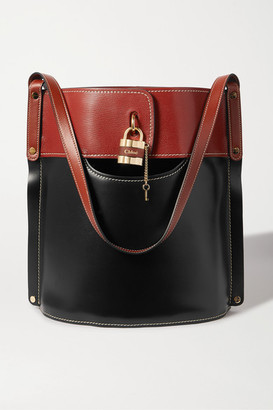 Chloé Aby Two-tone Leather Tote - Black