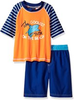"iXtreme Little Boys' Toddler ""Coolest Dude"" 2-Piece Swim Set"