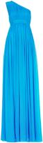 Diane von Furstenberg Ophelia One-Shoulder Pleated Gown