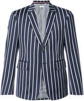 Thom Browne Classic Single Breasted Sport Coat In Bold Blazer Stripe Wool/ Cotton